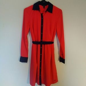 Tommy Hilfiger Button Down Belted Midi Dress XS